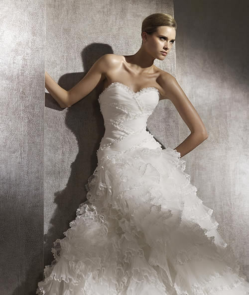 cheap wedding gowns online blog pronovias spring wedding gowns 2012 collection. Black Bedroom Furniture Sets. Home Design Ideas
