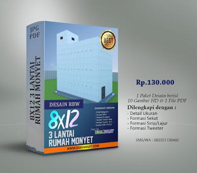 Desain Bangunan Walet 8x12 3 Lantai Premium