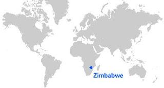 Gambar Peta letak Zimbabwe