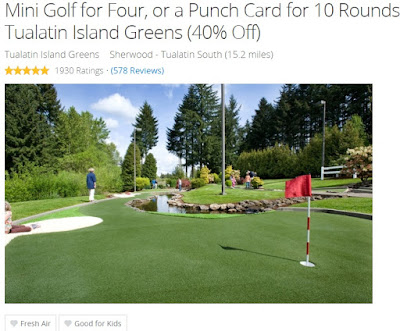 Groupon Portland deals miniature golf