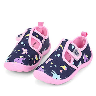 f4c85e734f14  toddler  size nerteo Water Shoes Girls Kids Walking Sneakers Sandals for  Beach Camp Pool Swim Navy Pink Unicorn US 5 Toddler 2019