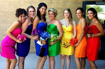 Vestidos de damas de honor cortos