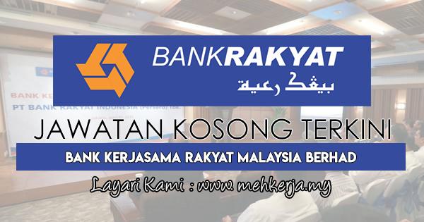 Jawatan Kosong Terkini 2018 di Bank Kerjasama Rakyat Malaysia Berhad