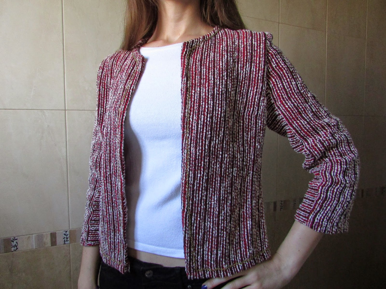 Chaqueta chanel DIY costura 1