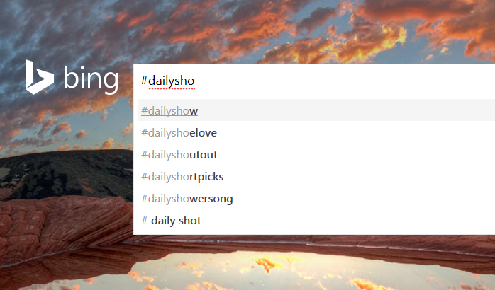 Bing Hashtag Search