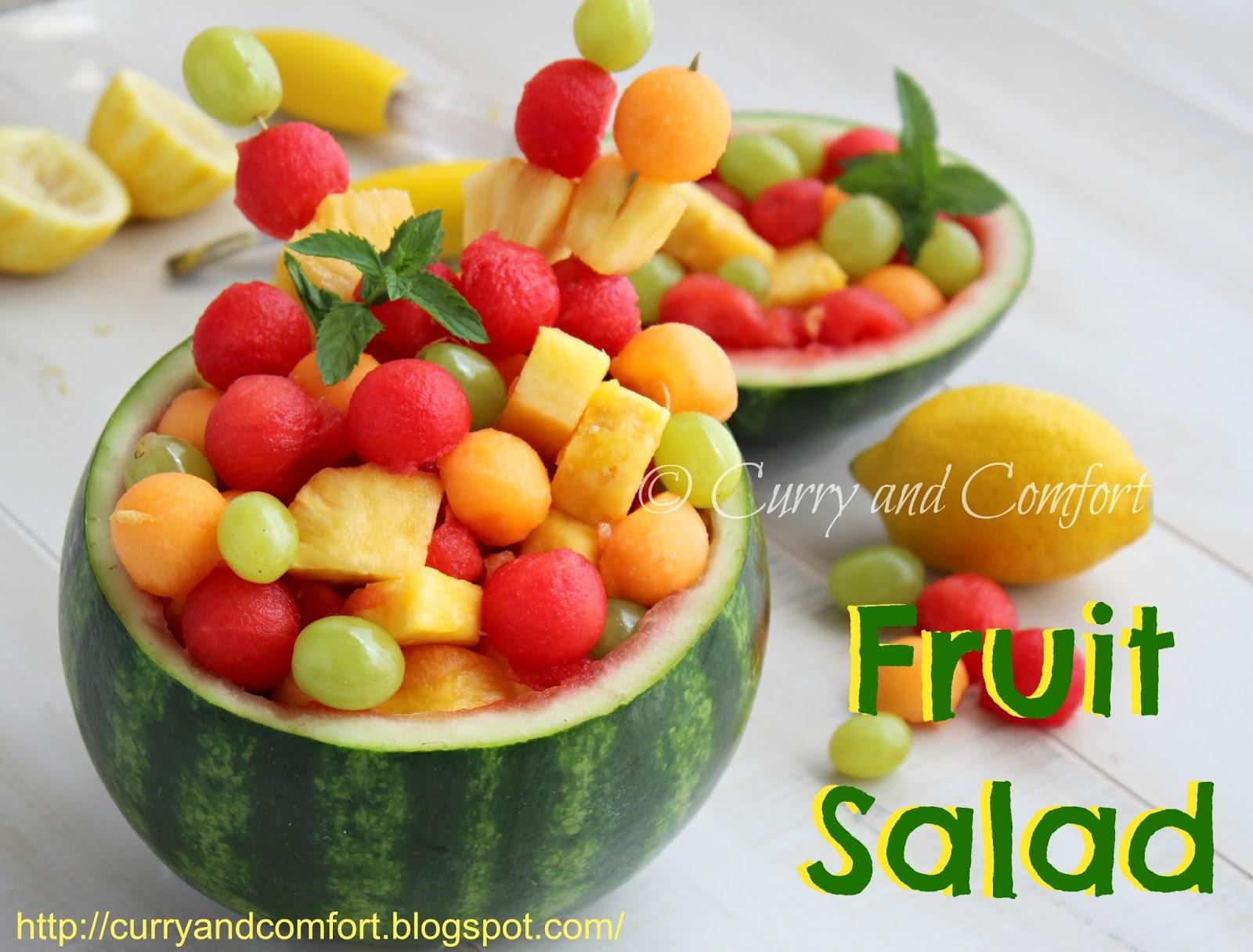 Kitchen Simmer: Fruit Salad in Watermelon Bowl