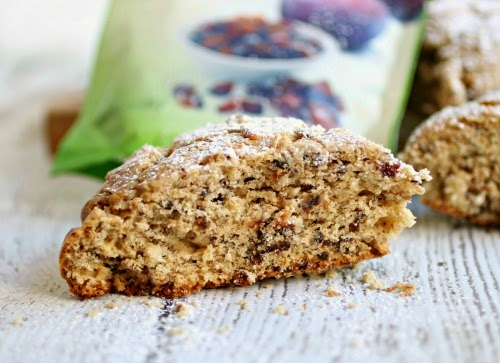 Dried Plum and Honey Scones