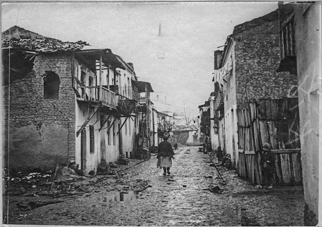 In the streets of Monastir (Bitola) (February 1917). A street in the poor neighborhood