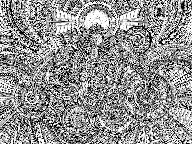 Mandala Coloring Pages Expert Level With Ive Never Taken Art Classes But  Love Drawing So
