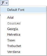 Apply different font for texts in blogger post