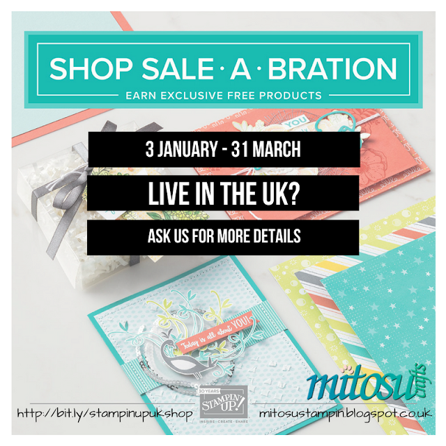 Shop Stampin' Up! during Sale-A-Bration Event to earn exclusive FREE products from Mitosu Crafts UK Online Shop