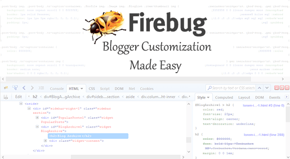 How Firebug Helps You Design Your Blogger Blog 1