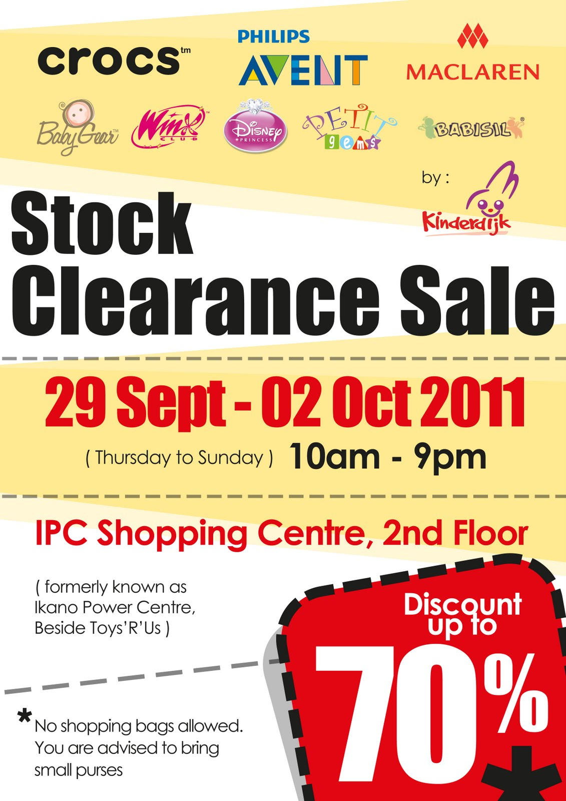 5d8f3312a Baby   Kids Stock Clearance Sale (29 September - 2 October ...
