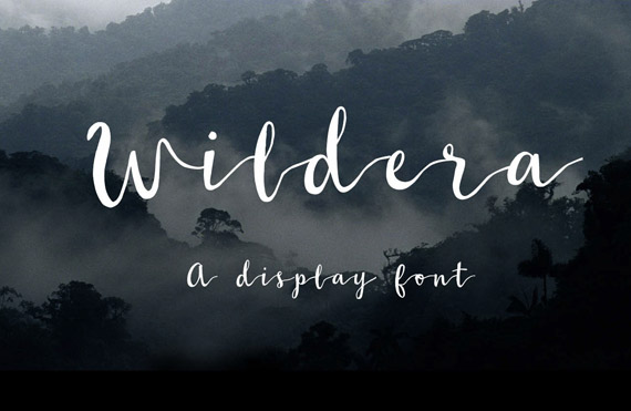 wildera free lettering style font