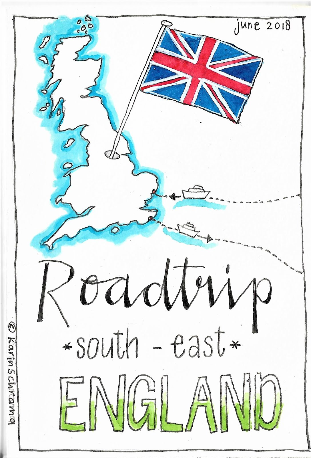 Art-journal On The Road: roadtrip Engeland