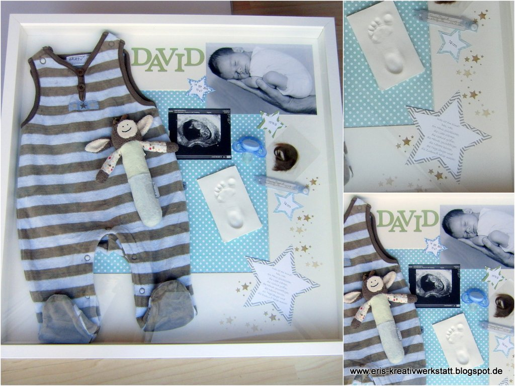 eri 39 s kreativwerkstatt baby memory box das besondere geschenk zur geburt oder taufe. Black Bedroom Furniture Sets. Home Design Ideas