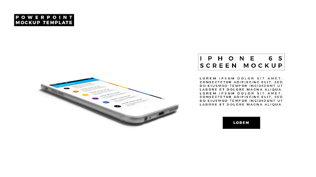 iPhone 6S Perspective Screen Mockup in Predefined PowerPoint Layout Slide 2