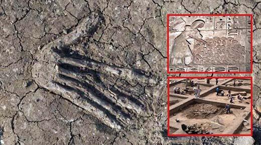 Descubren en Egipto fosas de 3600 años de antigüedad llenas de manos gigantes
