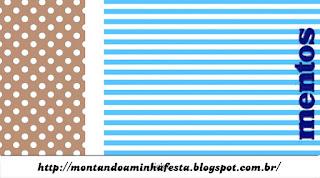 Etiquetas de Mentos de Celeste y Marrón para imprimir gratis.