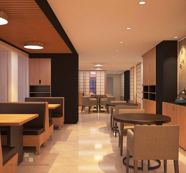Trong thiết kế nội thất nhà hàng chuyên nghiệp này chúng ta luôn thấy sự xuất hiện của những bàn ghế ăn cao cấp
