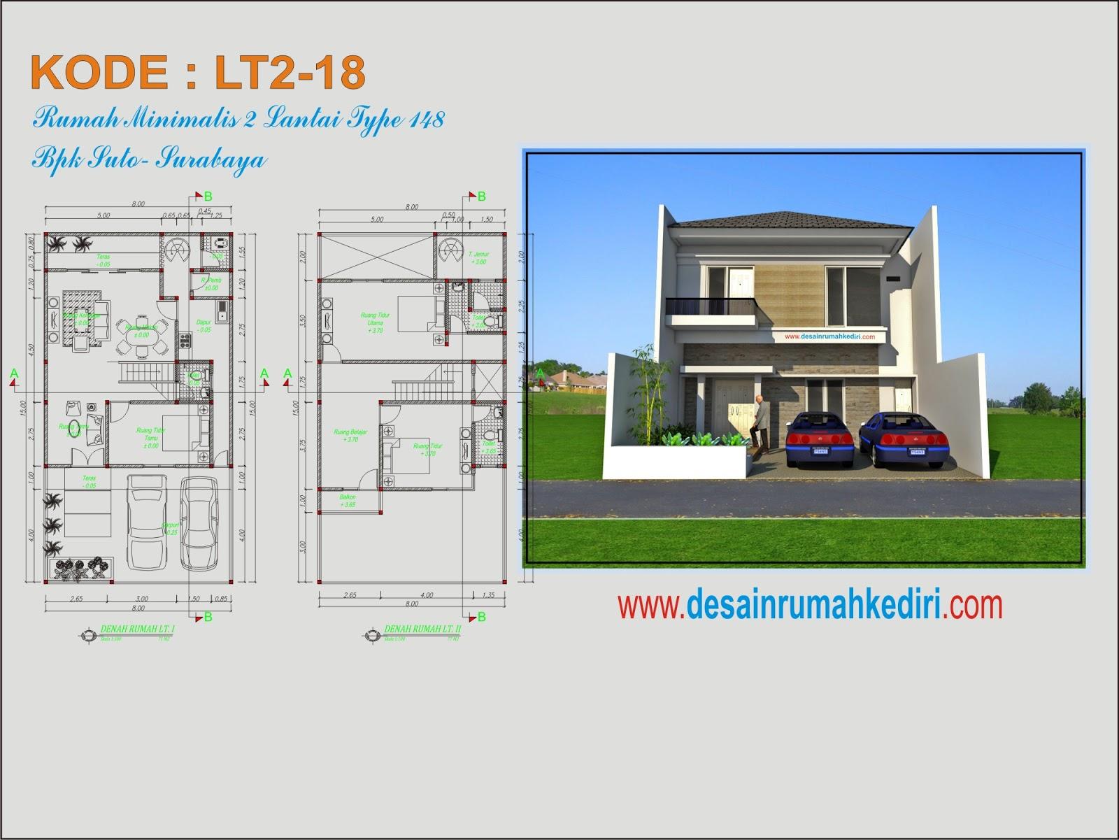 LT2 18 Rumah Minimalis Menawan 2 Lantai Bpk Suto