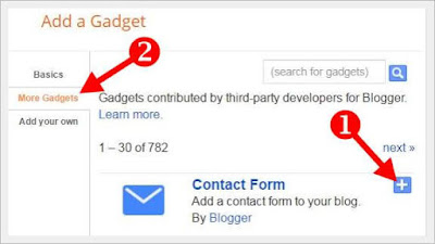 how to add contacto form in blogger