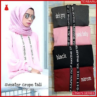 UTM079S88 Baju Sweater Muslim Crop Dewasa Tali UTM079S88 04F | Terbaru BMGShop