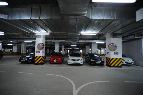 Tầng hầm để xe - Hải Phát HP Landmark