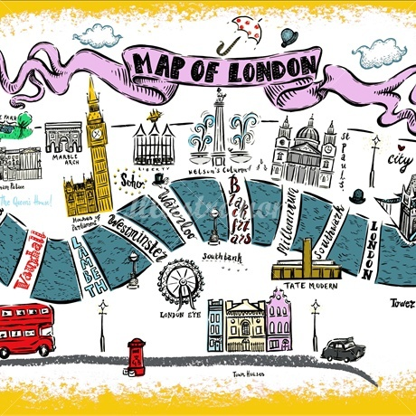 Simplified Map Of London.Making The Ordinary Extraordinary Brief Illustration Emma Rios