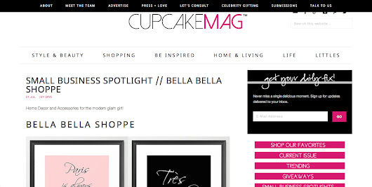 CupcakeMAG feature and 15% off!