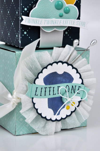 Paper craft, die cut nursery blocks for a baby boy with Jen Gallacher from www.jengallacher.com. #nurseryblocks #nurserycraft #papercraft #sizzix #diecutting