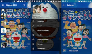 BBM MOD Doraemon Transparan v3.2.0.6 APK