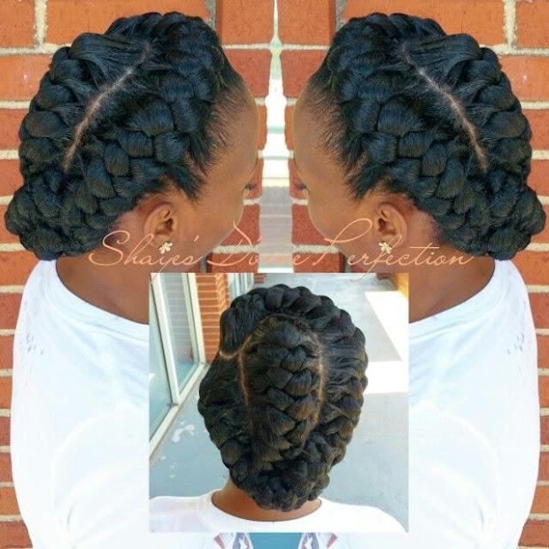 pretty tanzanian cornrow hairstyle