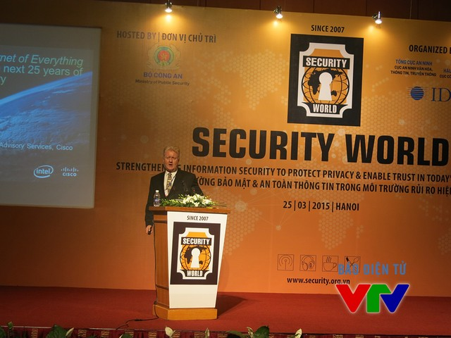 Richard Staynings Keynote kicks off the Security World Conference in Hanoi
