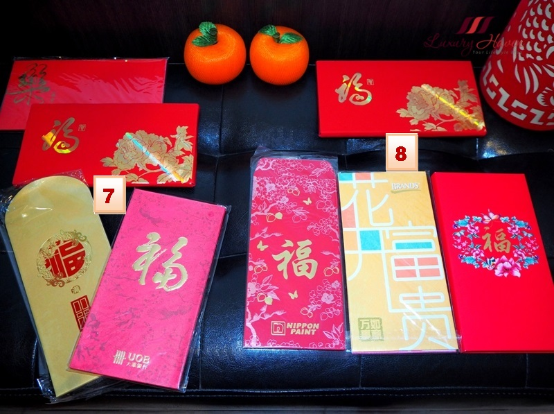 chinese new year auspicious fu character red packets