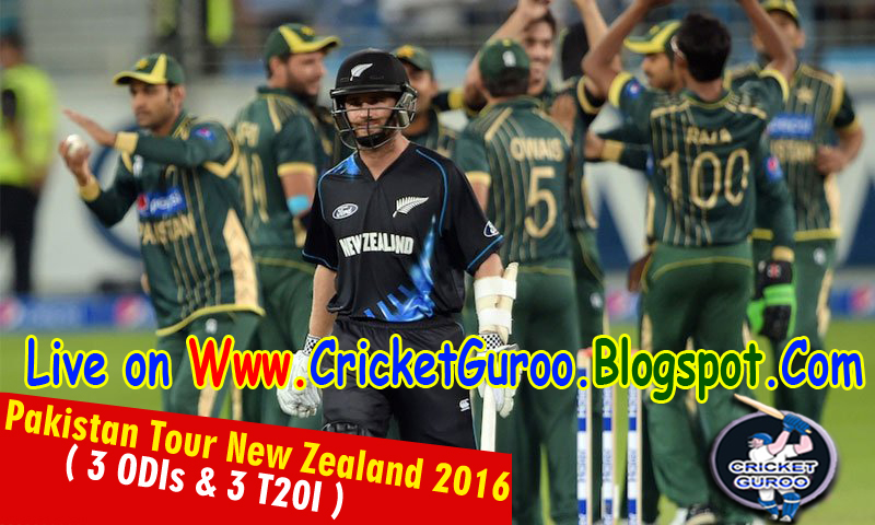 Pakistan vs New Zealand Schedule 2016