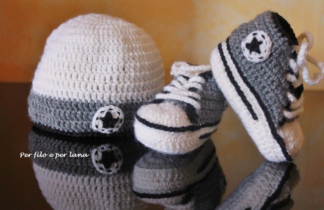 Cappellino Neonato Uncinetto Con Orecchie