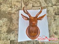 Hiasan Dinding Kepala Rusa Kecil - Salsabil Furniture 085875166325