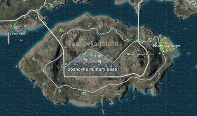 Lokasi Loot Terbaik di Erangel Map PUBG Mobile - Military Base