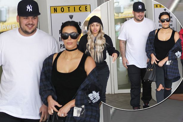 0a6db1dad32 ... at last with her brother Rob's fiancée Blac Chyna - as they enjoyed  lunch together this week. Just days after Kylie Jenner was pictured hanging  out with ...