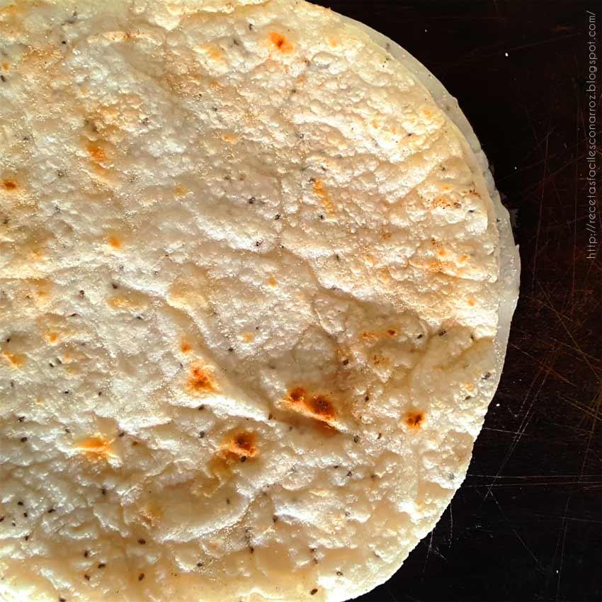 masa tacos con harina de arroz