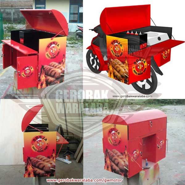 desain gerobak motor