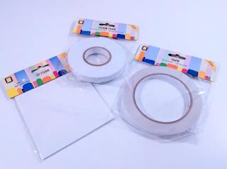 Cinta de doble cara con relieve, cinta de doble cara de 9 mm de ancho y cuadraditos de doble cara de espuma de 0.5 cm. Libres de ácidos para los trabajos de scrapbooking
