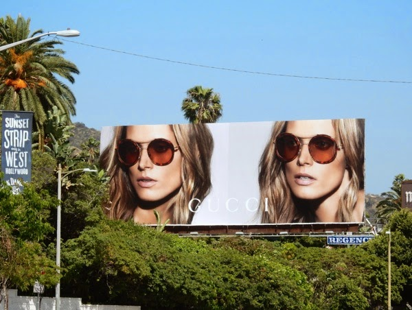 Gucci Eyewear Spring 2015 billboard