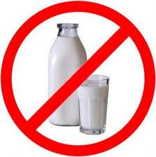 evite los productos lacteos