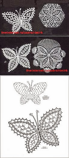 Patrón de aplique de mariposa para tejer al crochet