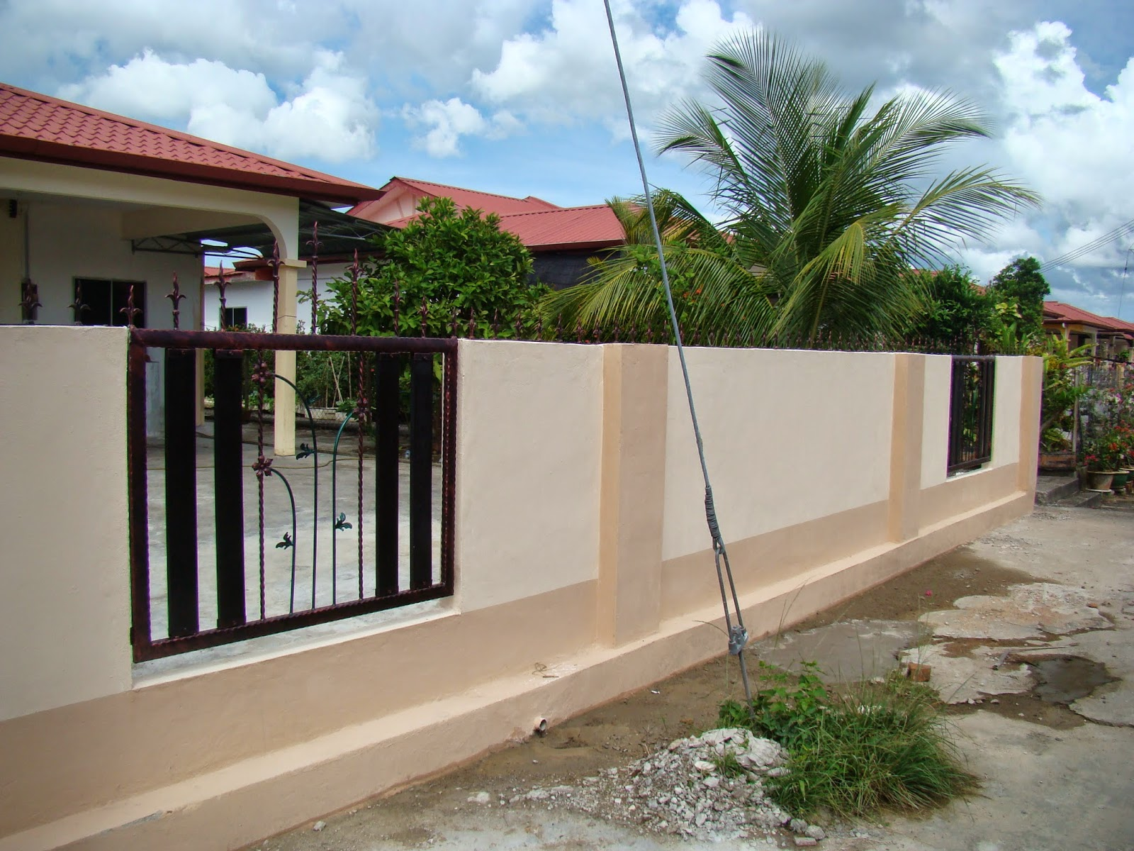 Harga Awning Rumah Sekaki Gambar Pagar Gate Rumah Desain