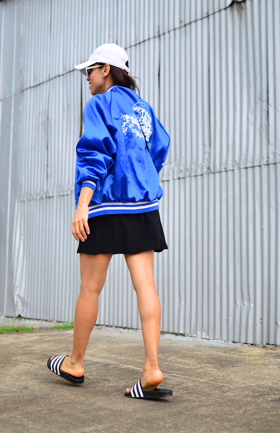 Outfit with varsity jacket