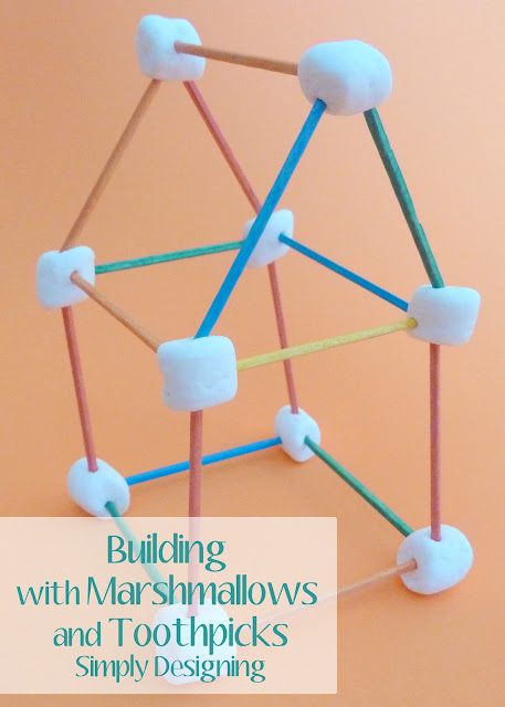 marshmallows01a Building with Marshmallows and Toothpicks {Boredom Buster} 9