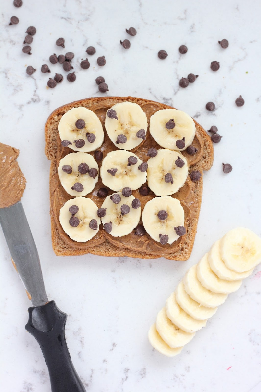 Breakfast Toast Week: Almond Butter Banana Toast With Dark Chocolate Chips